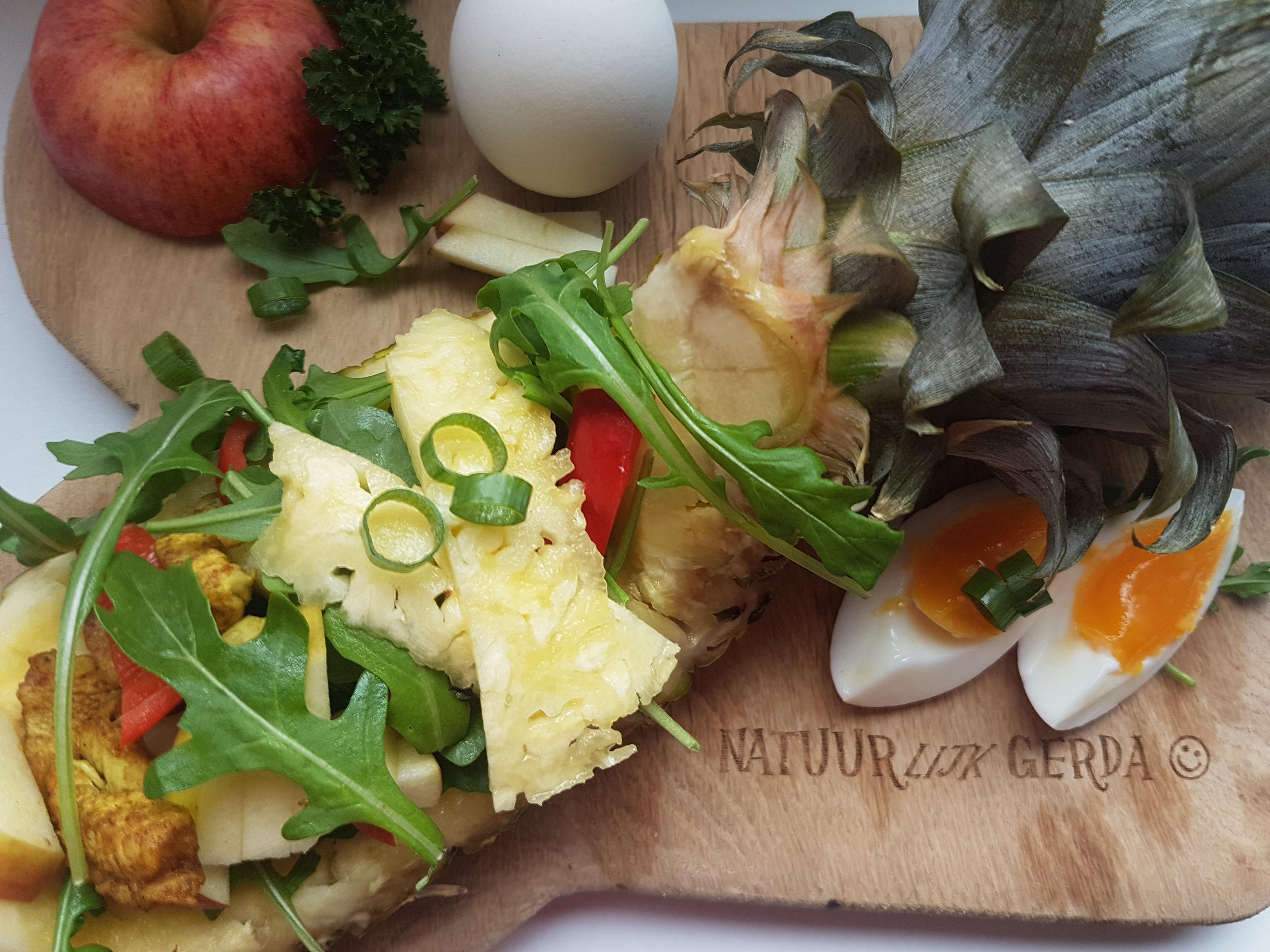Gerda's Salade Driedaagse, dag 3: Ananassalade