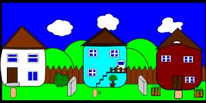 drie huisjes
