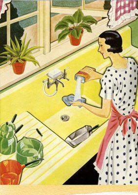 retro huisvrouw